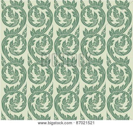 thai pattern.Thai art wall pattern illustration. vector