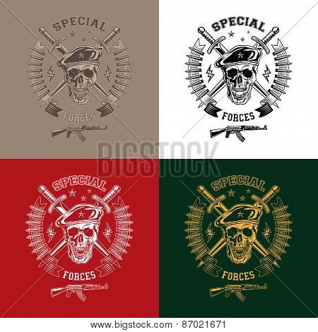 Special Forces Monochrome Emblems