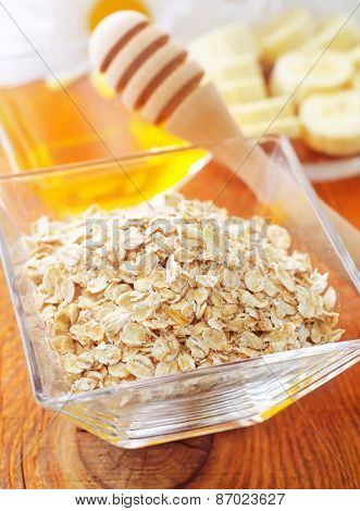oat flakes with honey