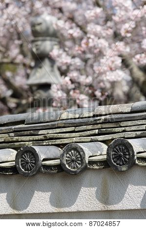 Japanese roof clay tiles
