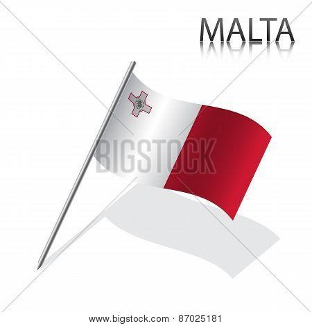 Realistic Maltese flag
