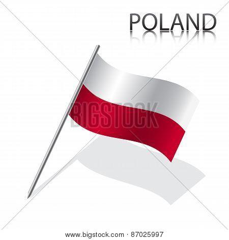 Realistic Polish flag