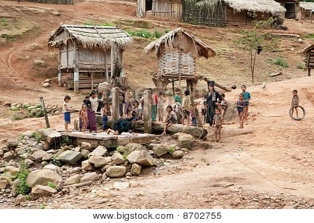 Akha Village In Phongsali, Laos