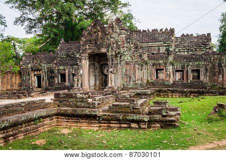 Ruins Of Pra Khan Temple In Angkor Thom Of Cambodia