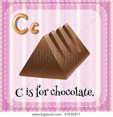 Flashcard letter C is for chocolate bar