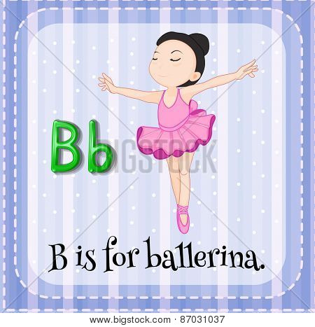 Flashcard letter B is for ballerina