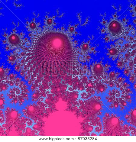 Abstract decorative fractal background