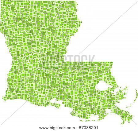 Isolated map of Louisiana