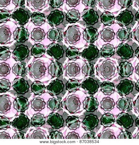 Abstract seamless floral mosaic pattern