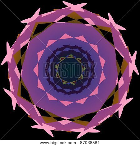 Abstract decorative round irregular shape