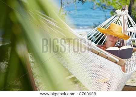 Woman On Hammock