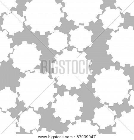Abstract gear wheels. seamless pattern