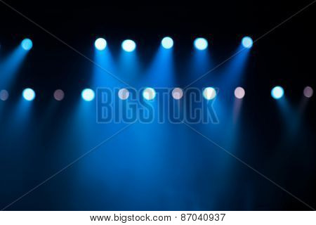 Stage Lights On Concert.