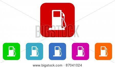 fuel vector icons set