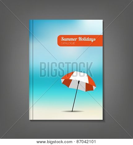 Summer holidays catalog. Can be used as a template for a flyer, brochure or leaflet.