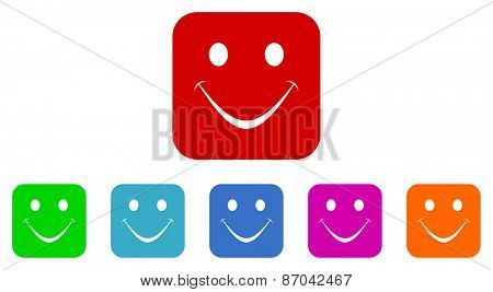 smile vector icons set