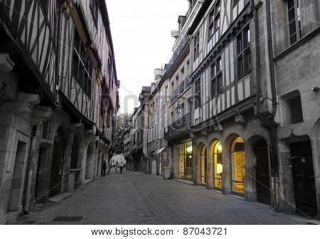 Dijon, France Small Town Square