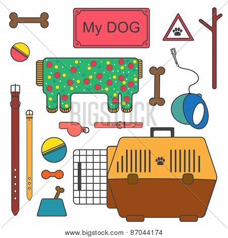 Set of dog's care things