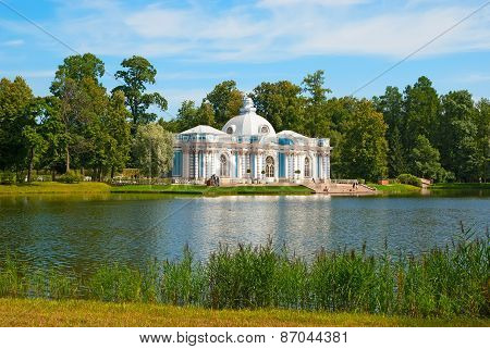 Tsarskoye Selo (Pushkin), Saint-Petersburg, Russia. The Grotto Pavilion
