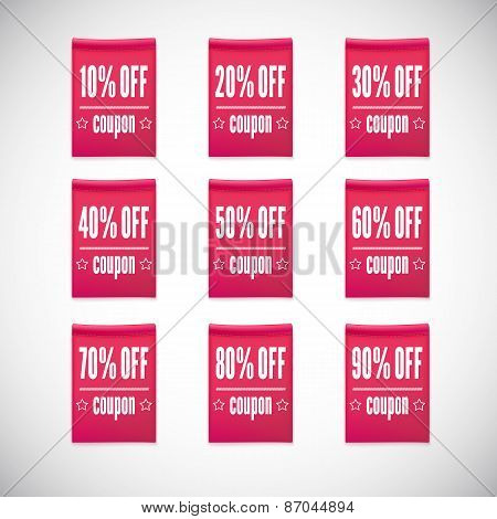 Sale clothing labels set of discounts.