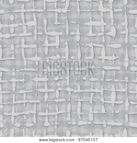 Abstract Pattern Fabric Texture. Seamless Background Of Gray Stripes.