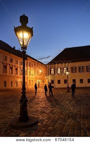 Upper Town Lanterns At Dusk