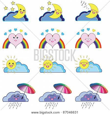 Kawaii Weather Icons