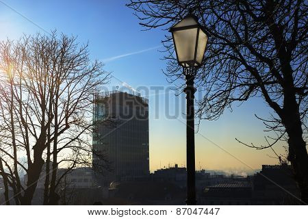 Zagreb Skyscraper With A Lantern