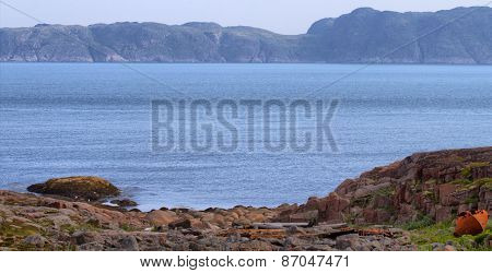 Coast Of Barents Sea With Bay