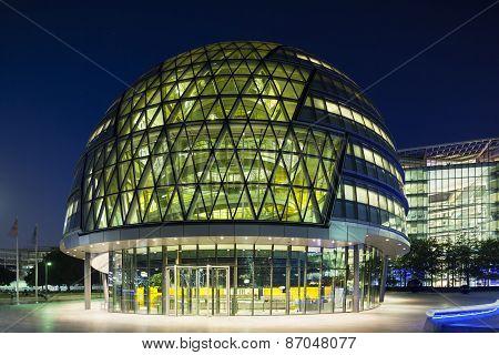 London City Hall At Night, Editorial
