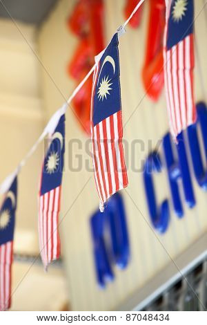 The Garland of Malaysian flags
