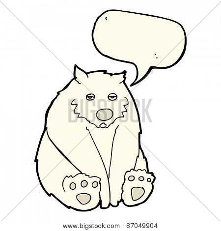 cartoon sad polar bear