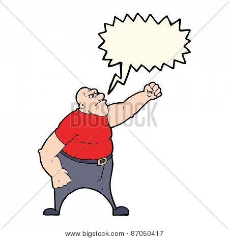 cartoon angry man