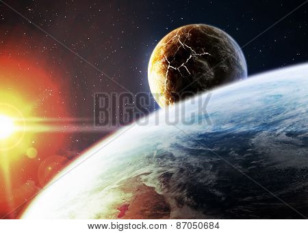 Space background. Elements of this image furnished by NASA