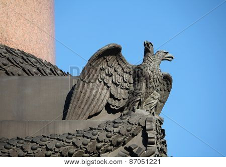 Double headed eagle spreads its wings