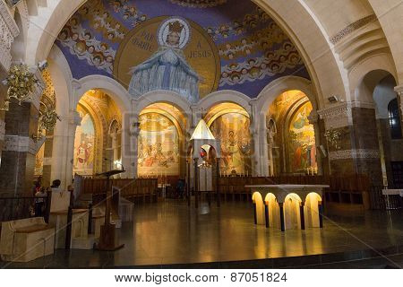 Chapel  Inside The Rosary Basilica In Lourdes