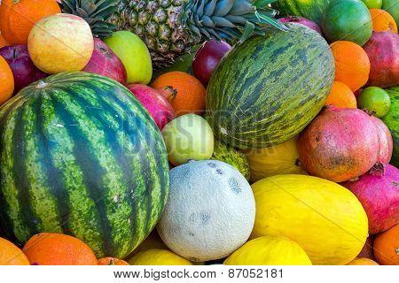 Assortment of tropical fruits