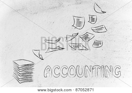 Accounting Procedures: Design With Business Documents Flying