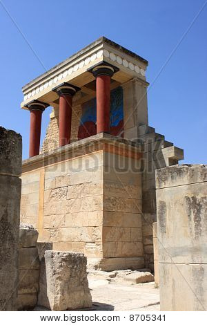 North Entrance Of  Reconstruction Of The Minoan Palace