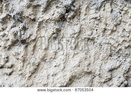Old Bumpy Plaster With Cracks
