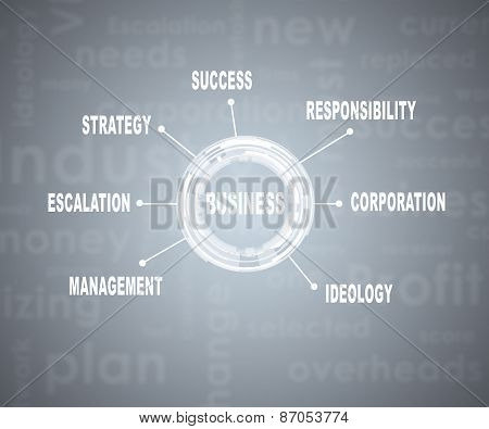 Abstract business concept. Stamp with words