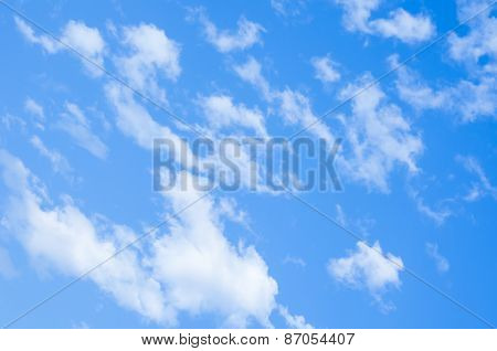 Clouds above the natural background is beautiful.