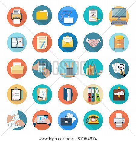 Icons Set of Office Tools