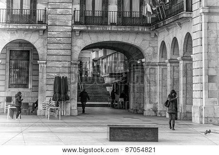 Walking In The Santander City