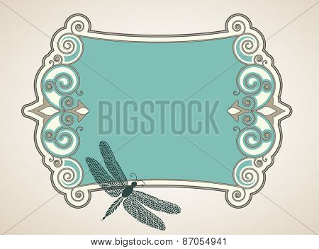 Dragonfly  baroque banner
