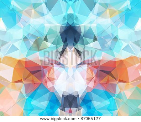Abstract geometric background concept