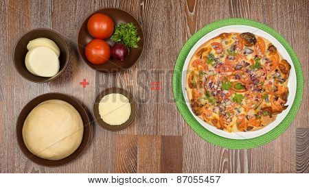 ingredients For Cooking Delicious Pizza