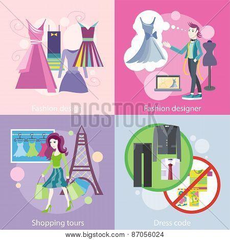 Fashion Designer Design, Shopping Tour, Dress Code