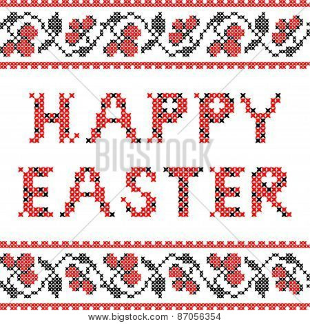 Isolated illustration Happy Easter
