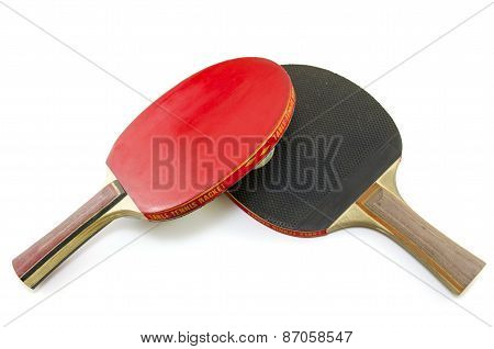 Two Table Tennis Rackets Isolated